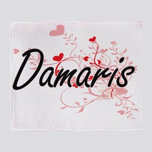 Damaris Artistic Name Design with He Throw Blanket